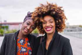 photo of two women smiling